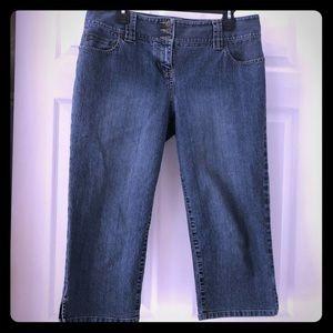 Ann Taylor Loft cropped jeans size 10